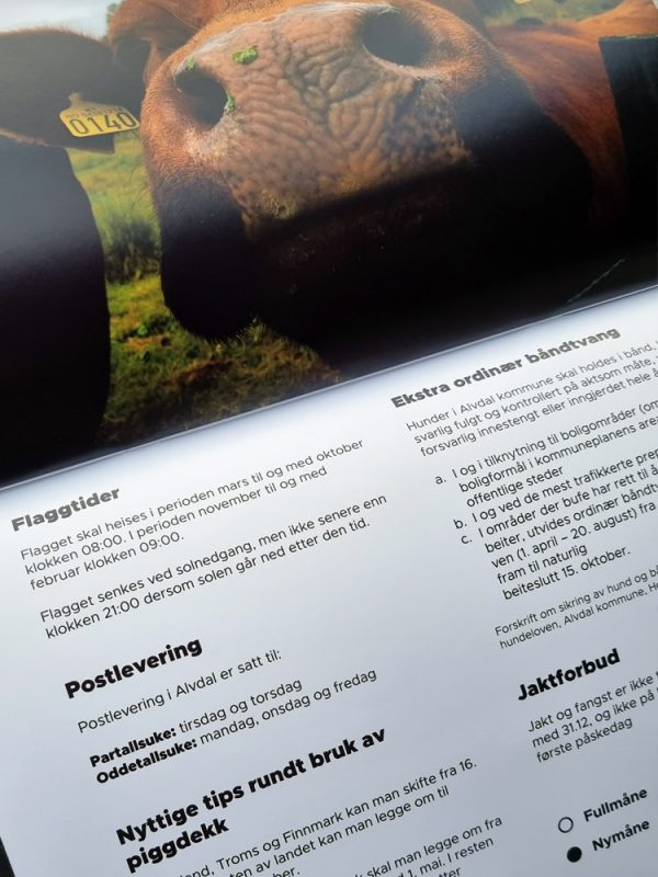 Informasjonsside i Alvdalskalenderen 2022