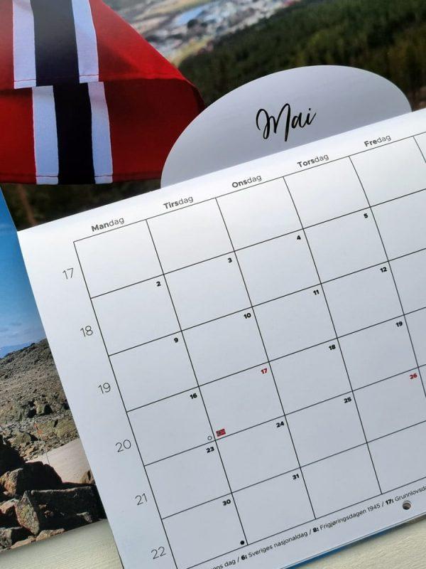 Kalender fra Mai 2022