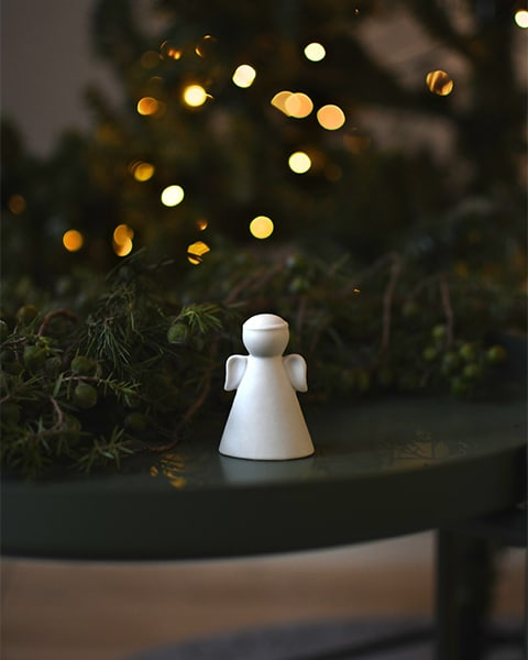 Julepynt, hvit engel
